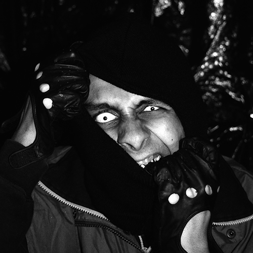 Black And White Photographic portrait featuring fangs and contact lenses by Broken Babies titled Faces Of Terror 4 of 9