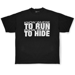 Buy Know Where To Run Black T-Shirt