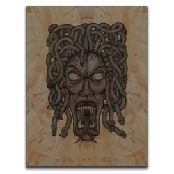 Buy Blood-Stained Faces Of Death Medusa Brown Canvas Art