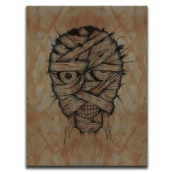 Buy Blood-Stained Faces Of Death Mummy Brown Canvas Art