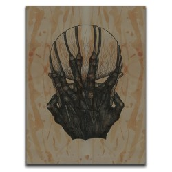 Buy Blood-Stained Faces Of Death Possession Brown Canvas Art