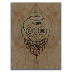 Buy Blood-Stained Faces Of Death Robot Brown Canvas Art