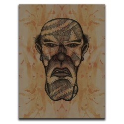 Buy Blood-Stained Faces Of Death Serial Killer Brown Canvas Art