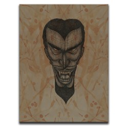 Buy Blood-Stained Faces Of Death Vampire Brown Canvas Art