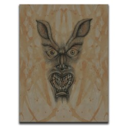 Buy Blood-Stained Faces Of Death Werewolf Brown Canvas Art