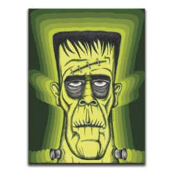 Buy Classic Horror Frankenstein Green & Yellow Canvas Art
