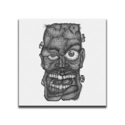 Buy Faces Of Death Frankenstein White Canvas Art