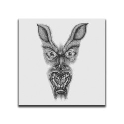 Buy Faces Of Death Werewolf White Canvas Art