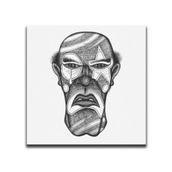 Buy Faces Of Death Serial Killer White Canvas Art
