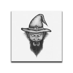 Buy Faces Of Death Wizard White Canvas Art