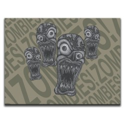 Buy Zombie Outbreak Brown Canvas Art