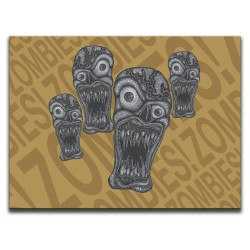 Buy Zombie Outbreak Orange Canvas Art